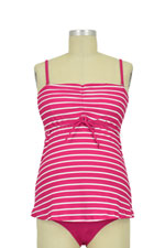 Boob Design Fast Food Tankini (Magenta Stripes & Off White) by Boob Design