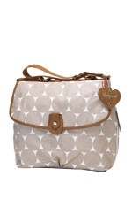 Babymel Satchel Jumbo Dot Diaper Bag (Fawn Dot) by Babymel