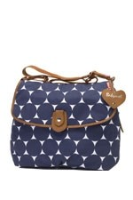 Babymel Satchel Jumbo Dot Diaper Bag (Midnight Blue Dot) by Babymel