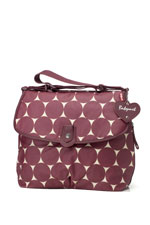 Babymel Satchel Jumbo Dot Diaper Bag (Cherry) by Babymel