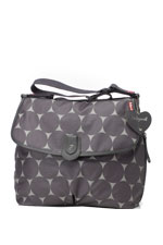 Babymel Satchel Jumbo Dot Diaper Bag (Grey Dot) by Babymel