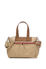 Babymel Cara Diaper Bag (Tan Stripes) by Babymel