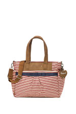 Babymel Cara Diaper Bag (Red Stripes) by Babymel