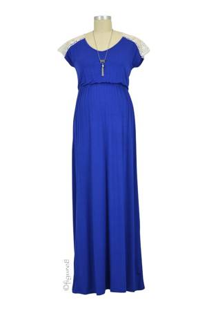 Juliet Maxi Maternity Dress (Sapphire) by Everly Grey