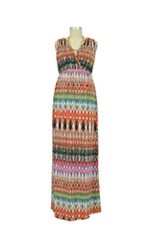Sienna Maxi Maternity Dress (Sunset Print) by Maternal America