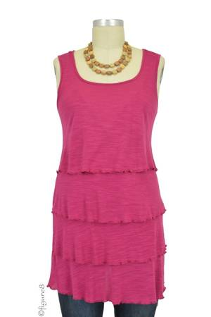 Tiered Sleeveless Nursing Top (Mulberry) by Annee Matthew