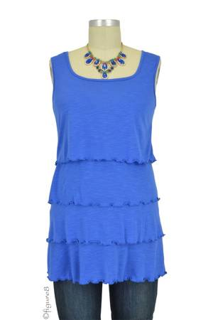 Tiered Sleeveless Nursing Top (Blue) by Annee Matthew