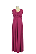D&A Bamboo Basket Weave Maxi Nursing Dress (Beet) by Japanese Weekend