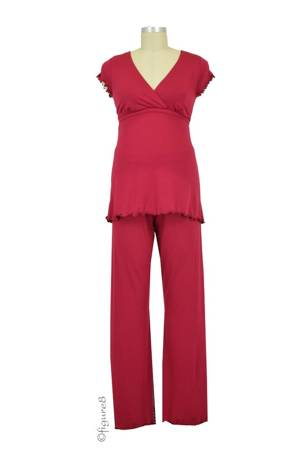 Majamas Genna Nursing PJ Set (Syrah) by Majamas