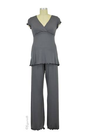 Majamas Genna Nursing PJ Set (Gunmetal) by Majamas
