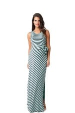 Side Tie Maxi Maternity Dress (Spearmint & Sulphur) by Ripe Maternity
