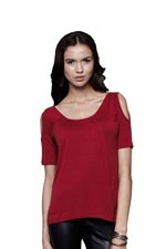 Effie Cut-Out Shoulder Nursing Top (Red) by Dote