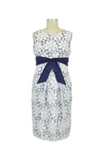 Flower Mesh Maternity Dress (Navy Cruise) by Jules & Jim