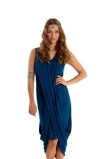 Zora Drape Nursing Dress (Dark Spruce) by MEV