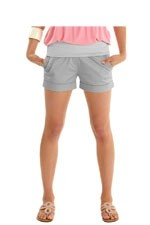 Comfy Sateen Maternity Short Shorts by Mothers en Vogue