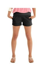 Jacob Maternity Sateen Short Shorts (Black) by MEV