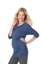 Saskia Jersey Nursing Top (Steel Blue) by Seraphine
