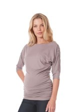 Saskia Jersey Nursing Top (Latte) by Seraphine