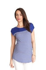 Seraphine Juno Nursing Top (Blue Stripes) by Seraphine