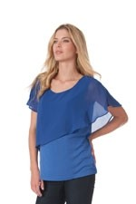 Meredith Chiffon  Nursing Top (Iris Blue) by Seraphine
