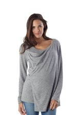 Seraphine Summer Natalie Front Wrap Nursing Lightweight Knit (Grey) by Seraphine