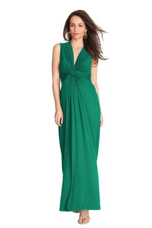 Seraphine Jo Knot Front Maxi Maternity Dress (Emerald) by Seraphine