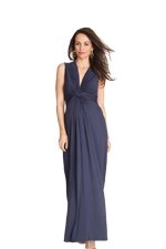Seraphine Jo Knot Front Maxi Maternity Dress (Navy) by Seraphine