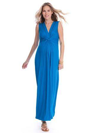 Seraphine Jo Knot Front Maxi Maternity Dress (Seaside) by Seraphine