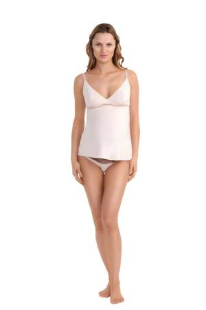 Constance Bamboo Nursing Camisole (Bare) by Les Lunes