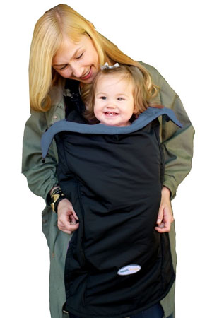 Hatch Things Cold Snap Universal Coat Extension Baby Cover (Black with Grey) by Hatch Things