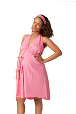 Pretty Pushers Women's Cotton Jersey Labor Gown- Plus Size (Hot Pink) by Pretty Pushers