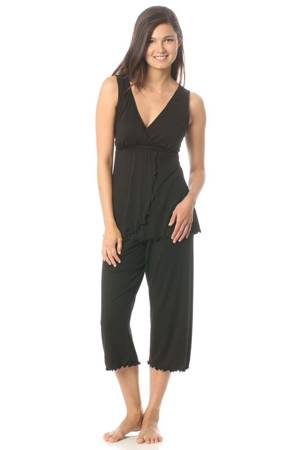 Majamas Pachisi PJ Set (Black) by Majamas