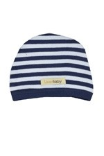 L'ovedbaby Organic Cotton Cute Baby Cap (Navy & White) by L'ovedbaby