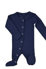 L'ovedbaby Organic Gl'oved-Sleeve Overall (Navy) by L'ovedbaby