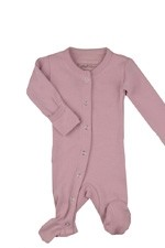 L'ovedbaby Organic Gl'oved-Sleeve Overall (Mauve) by L'ovedbaby