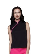 Ming Mandarin Nursing Top (Black) by Dote