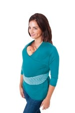 NuRoo Pocket Baby Wearing Top (Teal) by Nuroo