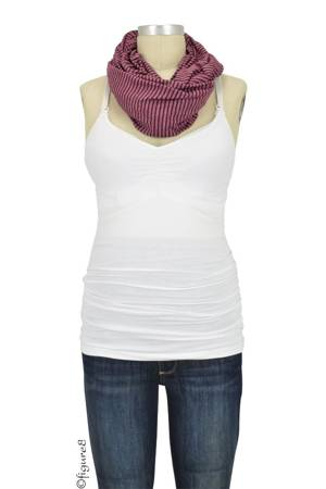 NuRoo Nursing Scarf (Burgundy/Stripe) by Nuroo