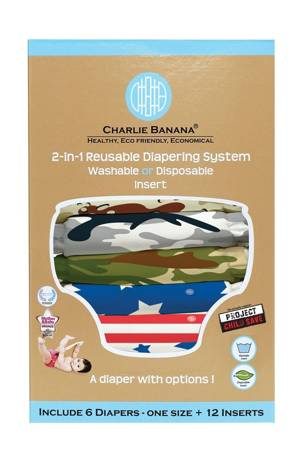 Charlie Banana® 2-in-1 Reusable Diapers - 6 Pack (Project Child Save) by Charlie Banana