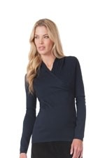 Seraphine Blair Cable Knit Nursing Sweater (Navy) by Seraphine