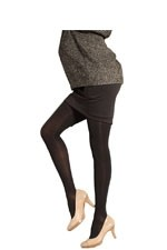 Preggers Maternity Compression Pantyhose (20-30 mm Hg)- Long (Black) by Preggers Maternity Hosiery