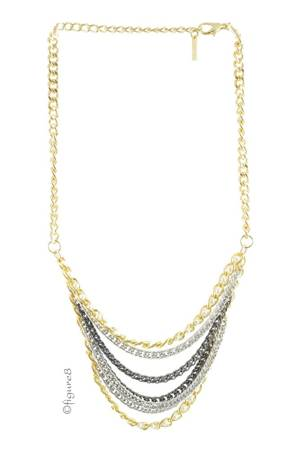 Dakota Gold Drape Necklace (Gun Metal) by Jewelry Accessories