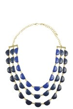 Quinn Layered Necklace (Blue) by Jewelry Accessories