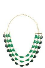 Quinn Layered Necklace (Green) by Jewelry Accessories