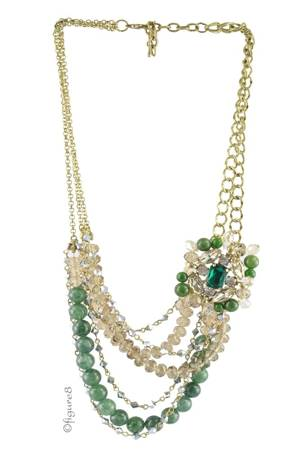 Layla Pendant Necklace (Green) by Jewelry Accessories