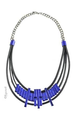 Iris Necklace (Black & Royal) by Jewelry Accessories