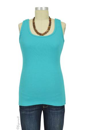 Bun Ultimate Easy Cotton Nursing Tank (Aqua) by Bun Maternity & Nursing