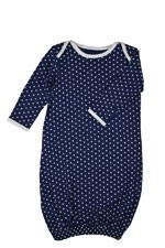 Belabumbum Dottie Baby Gown (Navy Dot) by Belabumbum