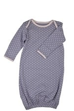 Belabumbum Dottie Baby Gown (Grey Dot) by Belabumbum