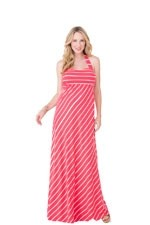 Ingrid & Isabel Stripes Convertible Maxi Maternity Dress (Poppy Stripes) by Ingrid & Isabel